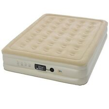 Inflatable Air Mattress Serta Airbed Raised Portable AC Pump Included Bed Queen