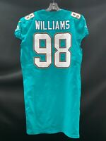 #98 SYLVESTER WILLIAMS  MIAMI DOLPHINS TEAM ISSUED AUTHENTIC NIKE JERSEY  YR-17