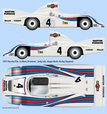 1977 Martini Porsche 936 Le Mans 1/24 scale water transfer decals - Tamiya +more