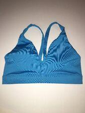 Victoria's Secret Bra Athletic Sports Yoga Blue Small Wire Free Womens NWOT