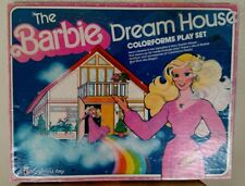 Vintage 1979 Barbie Dream House 2 Story Colorforms Play Set Mattel