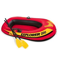 2-Person Inflatable Boat Raft with French Oars & Mini Air Pump Pools Calm Waters