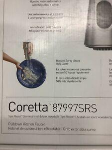 MOEN Coretta Single-Handle Pull-Down Sprayer Kitchen Faucet 87997SRS
