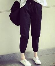 Korean Women Summer Elastic Waist Loose Slim Harem Casual Pants Long Trousers