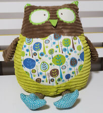 MAISON CHIC OWL CUSHION PLUSH TOY! CUTE TEXTURED SOFT TOY ABOUT 30CM SEATED!
