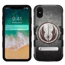 "for Apple iPhone Xs Max (6.5""), Hard+Rubber Rugged Case Star Wars Jedi Symbol #G"