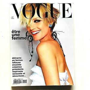 Vogue Paris Francia n. 822 novembre 2001 Amber Valletta Eva Herzigova Testino