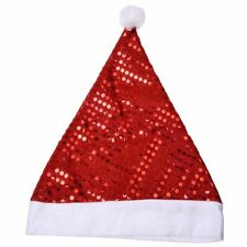 Deluxe Sequin Santa Hat Outfit Accessory for Christmas Nativity Fancy Dress G7Y5