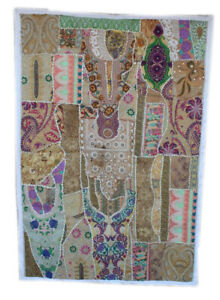 Tapestry Embroidery Patchwork Indian Unique Wall Hanging Handmade Runner VH-19