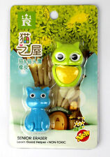 1 BOX Cute owl eraser reward learning