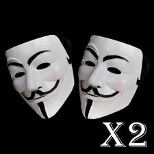 2 x anonyme Hacker V pour Vendetta Guy Fawkes Fancy Dress Halloween Masque