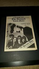The Damned Lovely Money Rare Original UK Promo Poster Ad Framed!