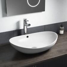 Bathroom White Oval Basin Sink Bowl Modern Ceramic Counter Top Cvb011 580 x 385