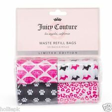 JUICY COUTURE 120 DESIGNER DOG PUPPY POO POOP WASTE BAGS PAW PRINT SCOTTIE xmas