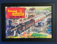 Triang Railways RS 61 Old Smoky Train Set 1965 A4 Size Framed Poster Shop Sign