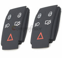 2* Repair Replacement Remote KEY FOB Button Rubber PAD Cover for Jaguar Xj Xk Xf