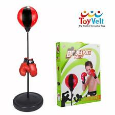 Boxing Set With Punching Ball Hand Pump Boxing Gloves Adjustable Base Portable