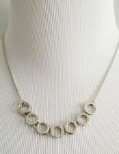 ANN TAYLOR Pave Circle Delicate Necklace