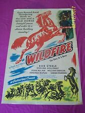 WILDFIRE 1945 Original One Sheet Movie Poster Western horse story Bob Steele