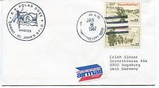 1987 R.V. Plar Duke Carino St. John's NFLD Arctic Antarctic Cover SIGNED