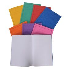 "5 X ORANGE SCHOOL EXERCISE BOOKS 9"" X 7"" 80 Page 7mm Squares"