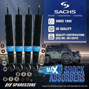 Front + Rear Sachs Max Shock Absorbers for Nissan Patrol Y62 Wagon 5.6L V8 10-20