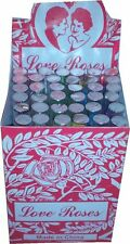 "12 Box of 36 Total 432 Tiny silk Love Roses in 4"" Glass Tubes"