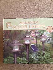 ALUMINUM SOLAR LIGHTS - BRONZE FINISH - SET OF 4