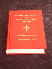 History of Legacy in New South Wales 1926-1986 HC legacy club of sydney