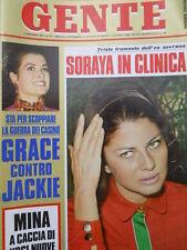 GENTE n°50 1968 Grace Kelly contro Jackie - Soraya - Maria Josè di Savoia [C53]