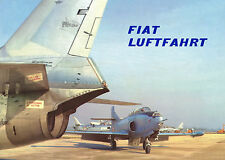 FIAT LUFTFAHRT - A BEAUTIFUL COMPANY BROCHURE - GERMAN TEXT - 1956