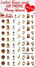 60pcs Beauty and the Beast CLEAR VINYL Peel and Stick Decals/Stickers CV-BAB1-60