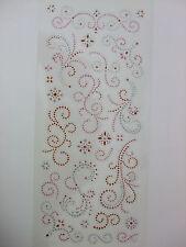 Glitter Dot Stickers Scrolls Papermania Crafts Multi Colours