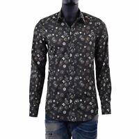 DOLCE & GABBANA GOLD Dices & Card Suits Heart Printed Cotton Shirt Green 06095