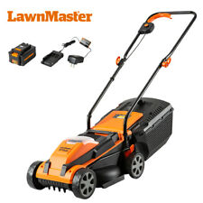 LawnMaster CLM2413A Cordless Lawn Mower 24V Lithium-Ion,13-Inch,4.0Ah Battery