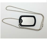 SINGLE BLANK STAINLESS STEEL MILITARY DOG TAG - ARMY DOG TAG - THEDOGTAGCO