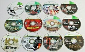 Lot of 11 Xbox 360 Games! Discs in GREAT Shape! Dead Space 1 & 2, Bioshock, MORE