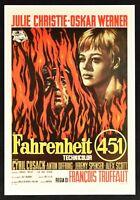 Plakat Fahrenheit 451 Froncis Truffaut Julie Christie Oskar Werner Kino PP1