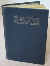 BOOK Alphabets of British line-engraved, published in 1937 - uncommon