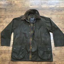 Men's Barbour Olive Wax New Beaufort Jacket Size Large