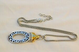 Altered Brighton Sensation Two Tone Silver & Gold Pendent Necklace