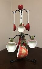 Ceramic Apple Themed Kitchen Baking Measuring Spoon And Cup Set