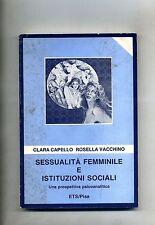 Capello-Vacchino # SESSUALITÀ FEMMINILE E ISTITUZIONI SOCIALI # ETS 1985