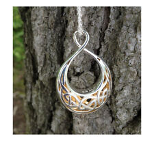 Sterling Silver Celtic Window to the Soul Pendant Gold Gildin KEITH JACK Jewelry