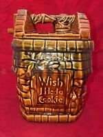 Vintage McCoy Wish I Had A Cookie Wishing Well Cookie Jar USA Pottery
