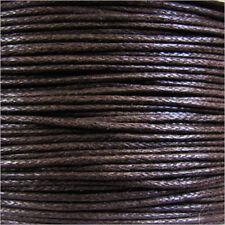Cordón de Algodón Encerado 0,8mm – 5 M Marrón para collares y Pulseras cuentas