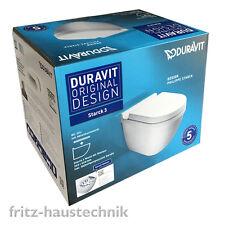 Duravit Starck Starck 3 Tiefspül WC Spülrandlos Rimless im Combipack mit WC Sitz