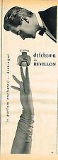 PUBLICITE ADVERTISING 114  1954  REVILLON  parfum DETCHEMA