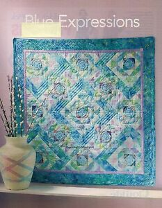 Blue Expressions Quilt Pattern Pieced BM