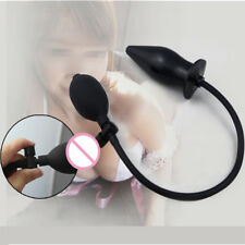 Plug-Adult Inflatable Latex Plug Massager-Anals-Sex-Butt-Product-Toys-Women-Men